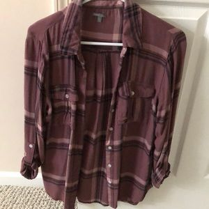 Dark pink flannel